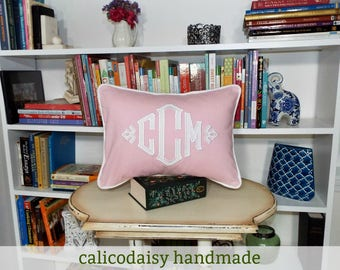 South Pointe Applique Monogrammed Pillow Cover - 14 x 20 lumbar
