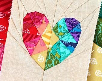 Love Story Paper Piecing Pattern - PDF Format