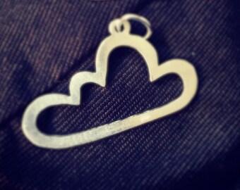 Silver cloud pendant
