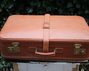 Leather suitcase suitcase leather 65 x 43 cm Travel suitcase 50s 60s 50s 60s vintage shabby