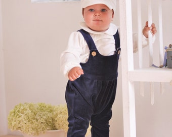 Baby boy outfit Baby romper Baby Boy christening outfit Baby boy dungarees Overall Baby boy diaper cover Baby boy clothes 1st birthday suit