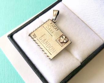 Sterling Silver Love Letter Pendant/Charm