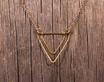 Chevron V Necklace