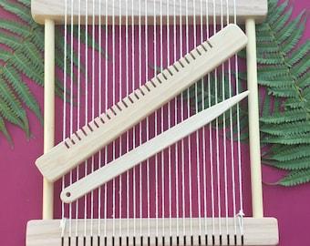 "Weaving Loom Kit - ""Barn Owl"" Large Steiner Waldorf Inspired Hand-made Craft Kit"