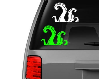 Tentacles Vinyl Decal Sticker Octopus Squid Cthulhu Sea Monster Car Window Laptop