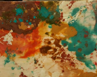 Original Mixed Media Art Encaustic - Abstract