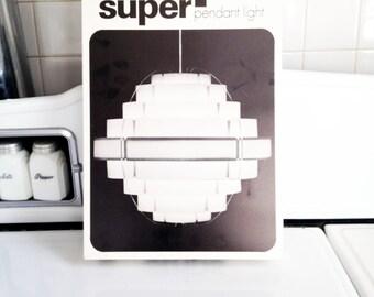 Danish Modern Pendant Lamp Shade Kit / New in Box / Super Strips