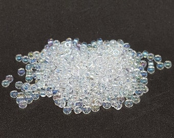 Transparent Crystal AB Seed Beads - Size 11/0