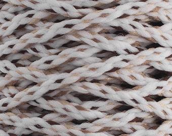 10 Yards Braided Macrame Cord - White/Brown/Sand/Beige