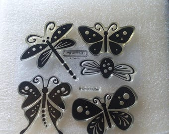 Close to my heart B1210 Flutter clear polymer stamps my acrylix