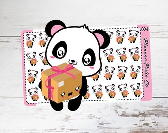 Piper the Panda // Planner Stickers // Happy Mail  // 004