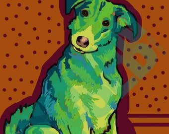 Head Tilt Dog Art Print