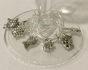 Wine Charms - Sea Creatures