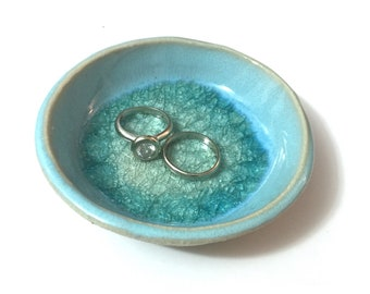 Ring Holder Dish, Ring Holder, Ring Dish, Engagement Gift, Gift for Couple, Anniversary Gift - Mediterranean Sea Dreams Collection