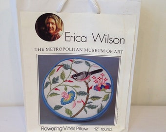 Flowering Vines Pillow Erica Wilson, Metropolitan Museum Collection