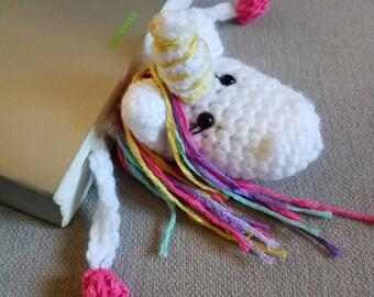 Crochet bookmark, unicorn bookmark, white unicorn, book lovers gift, crochet unicorn, bookmark, amigurumi unicorn, teacher gift idea