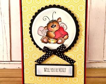 valentines day greeting card him, valentines card her, valentine cards, valentine card, handmade valentines card, valentine for kids