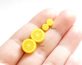 SALE Tiny Sliced Lemon Post Earrings