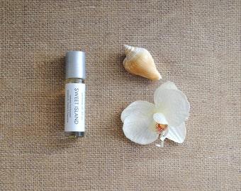 Sweet Island Perfume Oil, Roll On Perfume Beachy Tropical Fragrance