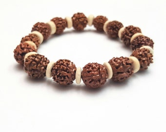 Rudaraksha bracelet Beaded Bracelet Mala bracelet Zen Bracelet Buddhist Bracelet Mens Jewelry Mens streetwear Spiritual Gifts for Him