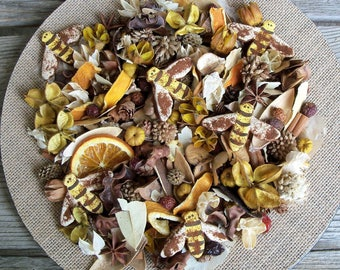 Bumbling Bees Country Potpourri, Rustic, Bumble Bees, Summer Potpourri, Spring Potpourri, Room Scent, Botanical Mix, Refresher Oil Included
