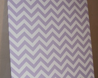 "Fabric Bulletin Board - 20"" x 30"" Magnet board, Magnetic board, Large Bulletin Board, Lavender chevron"