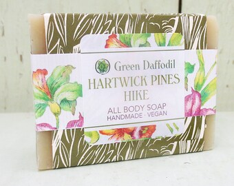 Hartwick Pines Hike Bar of Soap - Green Daffodil - Christmas