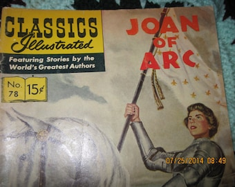 Vintage Classic Illustrated Comic 60's Era Joan of Arc No.78 of series