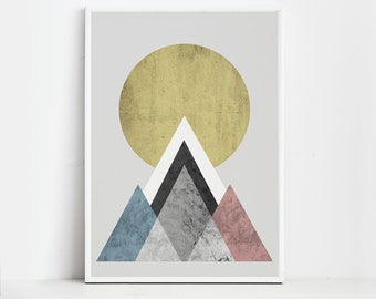 Sun Print Wall Art Prints Mountain Print