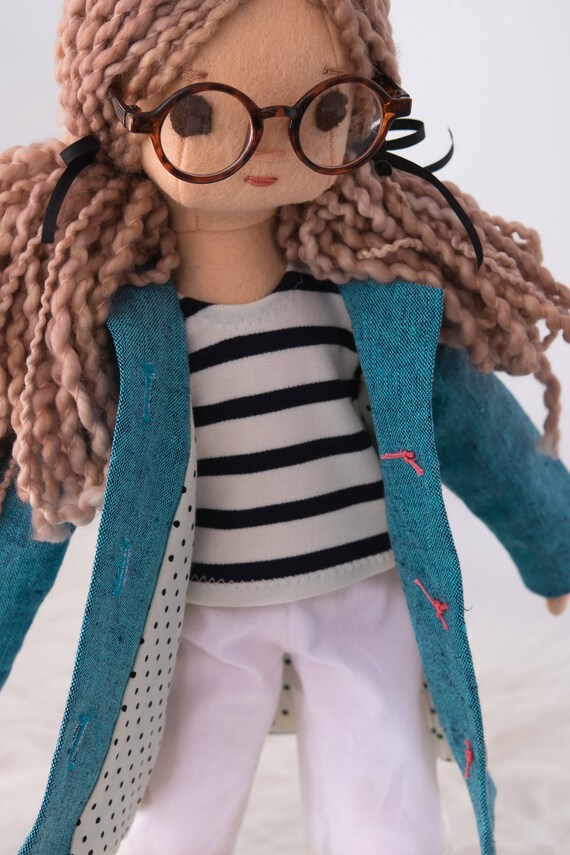 New size: 16.5 inch Phoebe Rag Doll with Wardrobe