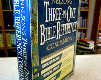 Nelson's BIBLE REFERENCE COMPANION Bible Concordance Topical Index Bible Dictionary Three In One Christian book Bible study Helps Hardcover