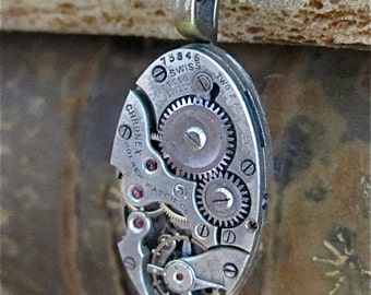 STeampunk necklace - Steampunk Necklace - Repurposed Art