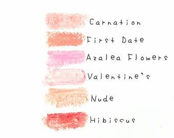 Vegan Tinted Lip Balm. All Natural Lip Tint. Unscented