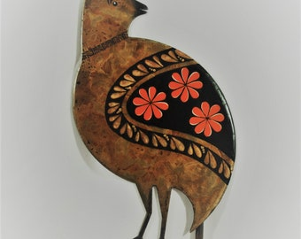 Metal Scaled Quail/Chick - Yard or Garden Art
