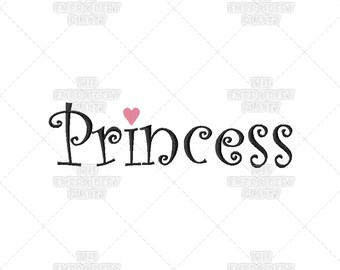 Six Sizes - Princess Fun Quote Phrase Words Machine Embroidery Pattern Design