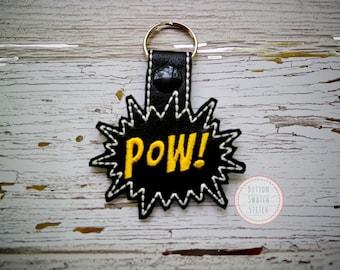Pow Comic Key Fob