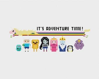 Adventure Time Cross Stitch Pattern PDF Instant Download