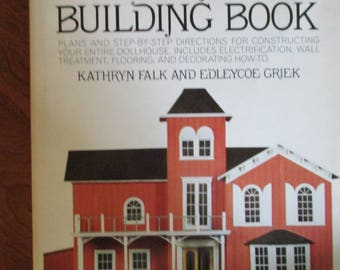 "DIY Vintage "" The Complete Dollhouse Building Book""  hardbound Craft Book 192 pages used fair condition"