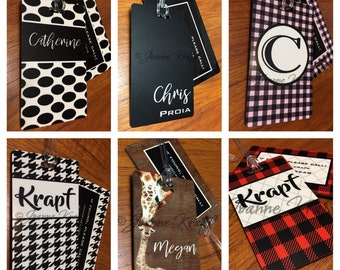 Luggage Tags (set of 2) by Joanne Krapf
