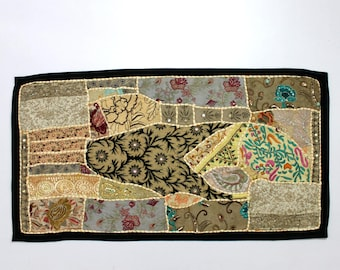 Handmade Embroidered Patchwork Traditional Living Room Beautiful Head Board Decorative Fine Art Bedroom Design Home Decor Table Top D933