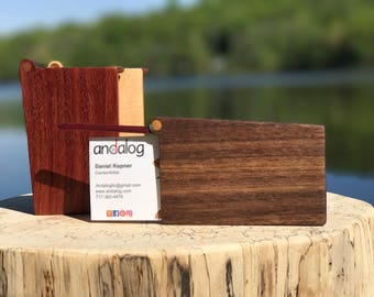 Wooden Business Card Carrying Case