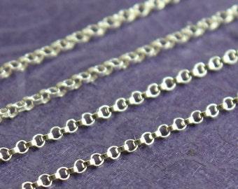 Sterling Silver Chain Bulk - Petite Rolo Chain - SAVE 5-10% on Bulk Chain Lengths