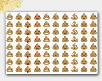 Emoji Stickers, Poop Stickers, Planner Stickers, Fun Stickers