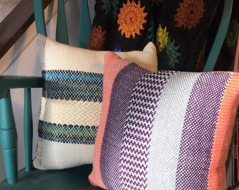 Purple and Coral pillow
