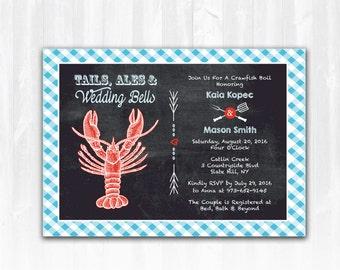 Crawfish Boil Bridal Shower Invitation DIY Printable Digital File or Print+ Low Country Boil Invitation Crawfish Invitation Seafood Invite