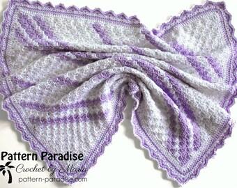 Crochet Pattern Baby Blanket, Afghan, Throw, Confetti, 18-CZ113
