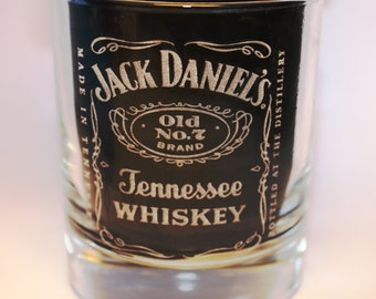 Whiskey Glass, Laser Engraved Whiskey Glass, Top Best Gift Ideas, Jack Daniel's Glass, Birthday gift, Present for Man, Custom Whisky Glass