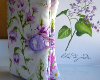 Tea Bag Wallet-Bonnet Bellflowers and Bleeding Heart Blossoms, Bellflowers Teabag Wallet,  Bleeding Hearts Blossoms Tea Holder, Card Holder