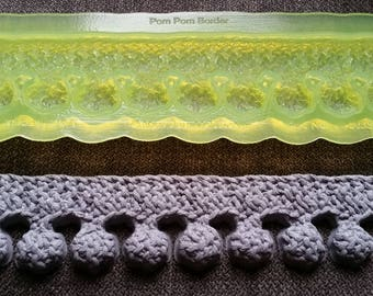 Marvelous Molds Pom Pom Knit Border Silicone Mold