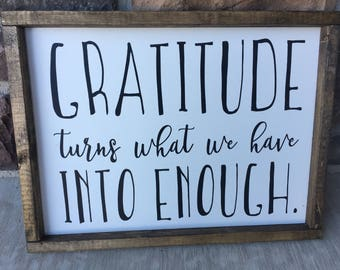Gratitude farmhouse sign